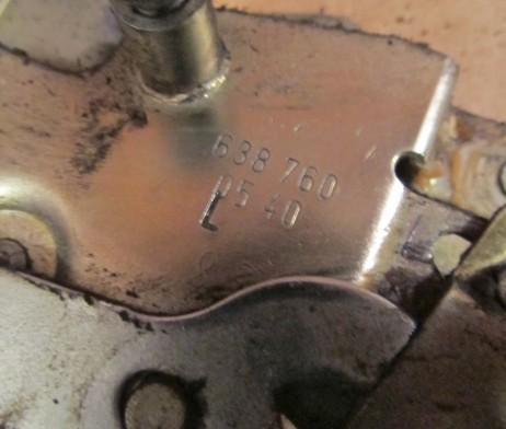 Привод замка (механизм ручки) левый/правый сдвижные двери электрический A6387600540, A6387600440